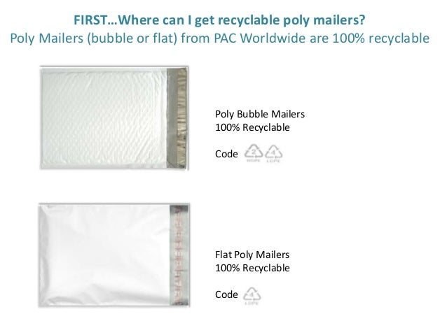 How To Recycle Flat Poly Mailers And Poly Bubble Mailers