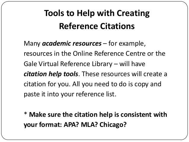 slideshare reference lists and citations apa