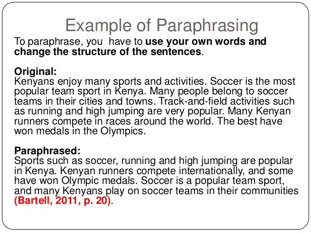 Slideshare reference lists and citations apa 22 example of paraphrasing ccuart Images