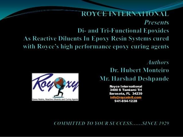 Royce International 3400 S Tamiami Trl Sarasota, FL 34239 info@royceintl.com 941-894-1228