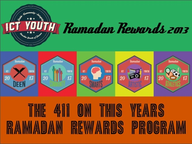 Ramadan Rewards 2013 The 411 on this years Ramadan Rewards PROGRAM