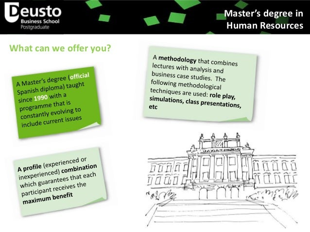 Official Master´s Degree in Human Resources