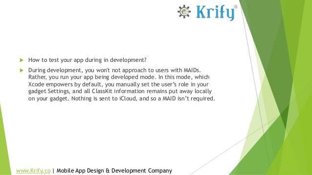  How to test your app during in development?  During development, you won't not approach to users with MAIDs. Rather, yo...
