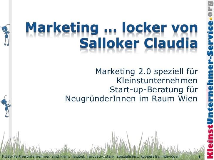 Marketing 2.0 speziell für                                               Kleinstunternehmen                               ...