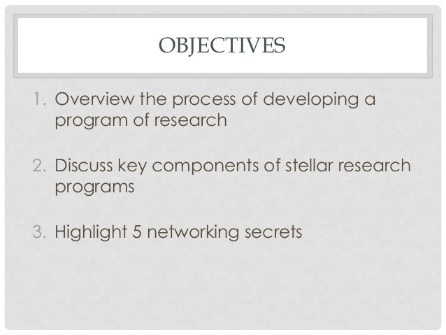 Secrets to Building A Stellar Research Program Slide 2