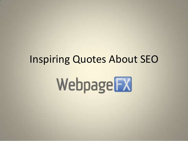 Inspiring Quotes About SEO