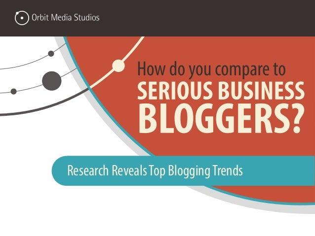 Research RevealsTop BloggingTrends