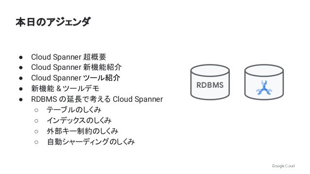 アプリ開発者、DB 管理者視点での Cloud Spanner 活用方法   第 10 回 Google Cloud INSIDE Games & Apps Online Slide 3