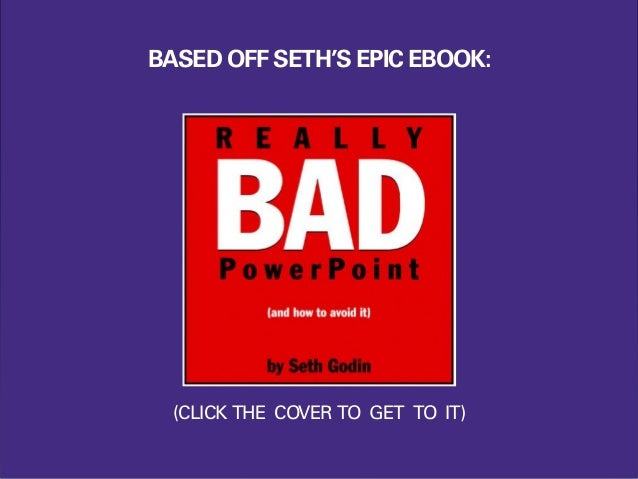 BASED OFF SETH'S EPIC EBOOK: (CLICK THE COVER TO GET TO IT)