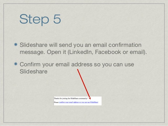 Slideshare signup tutorial