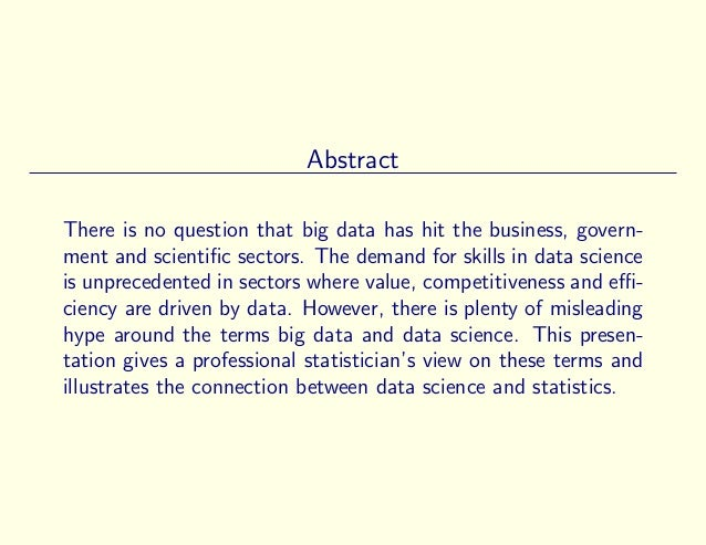 A Statistician's View on Big Data and Data Science (Version 1) Slide 2