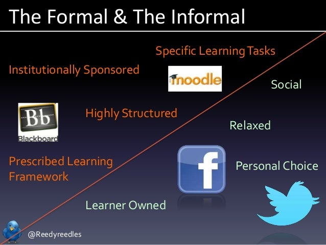 @Reedyreedles The Formal & The Informal Institutionally Sponsored Highly Structured Prescribed Learning Framework Specific...