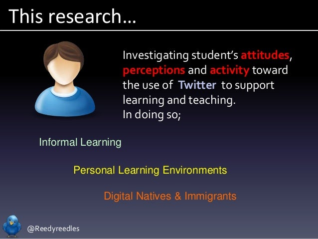 @Reedyreedles This research… Investigating student's attitudes, perceptions and activity toward the use of Twitter to supp...
