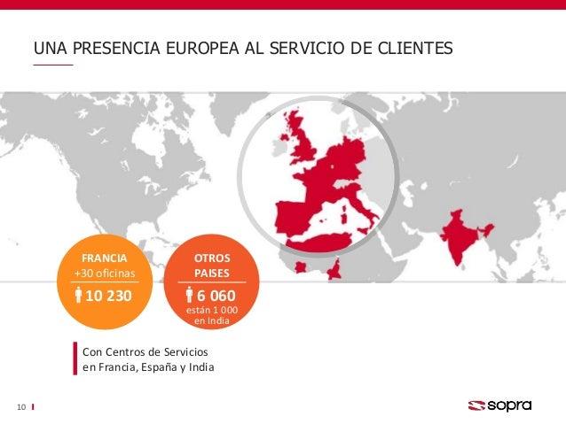 UNA PRESENCIA EUROPEA AL SERVICIO DE CLIENTES 10 FRANCIA +30 oficinas 10 230 Con Centros de Servicios en Francia, España y...