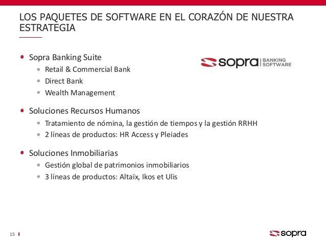 Sopra Banking Suite Retail & Commercial Bank Direct Bank Wealth Management Soluciones Recursos Humanos Tratamiento de nómi...