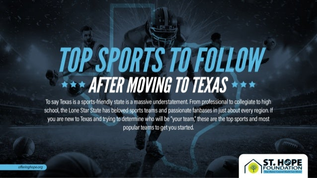 Top Sports to Follow After Moving to Texas