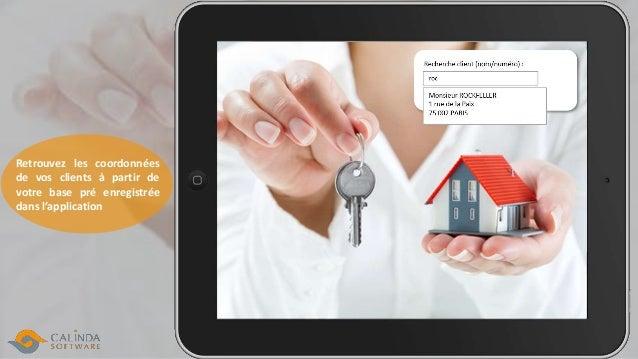 Retrouvez les coordonnées de vos clients à partir de votre base pré enregistrée dans l'application
