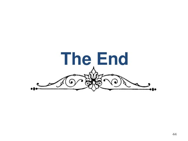 The End 44