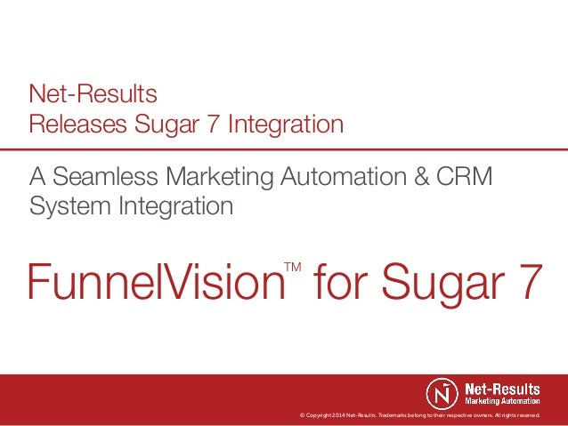 Net-Results Releases Sugar 7 Integration A Seamless Marketing Automation & CRM System Integration  FunnelVision for Sugar ...