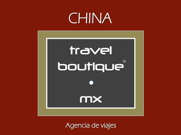 CHINAAgencia de viajes