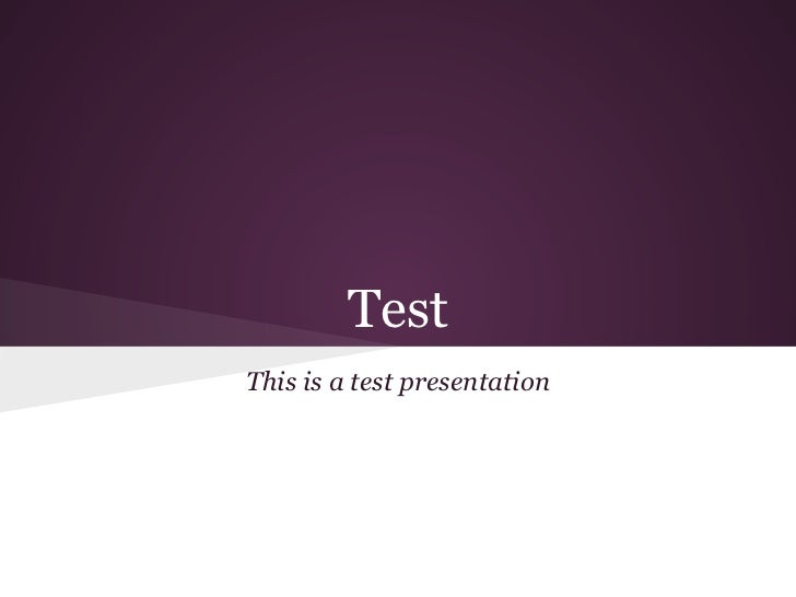 TestThis is a test presentation