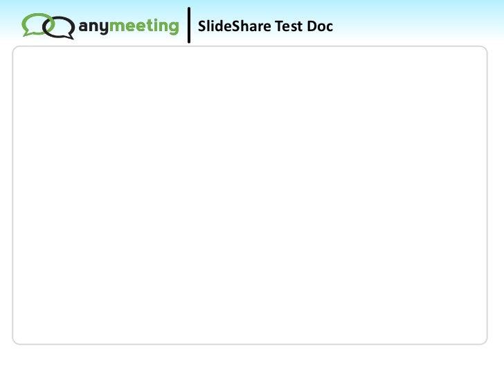 SlideShare Test Doc<br />