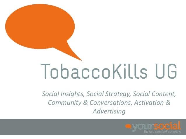 TobaccoKills UGSocial Insights, Social Strategy, Social Content,  Community & Conversations, Activation &                 ...