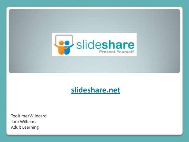 Tooltime/WildcardTara WilliamsAdult Learningslideshare.net