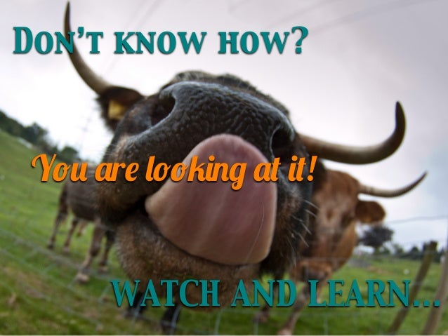 Don't know how?  You are looking at it! WATCH AND LEARN...