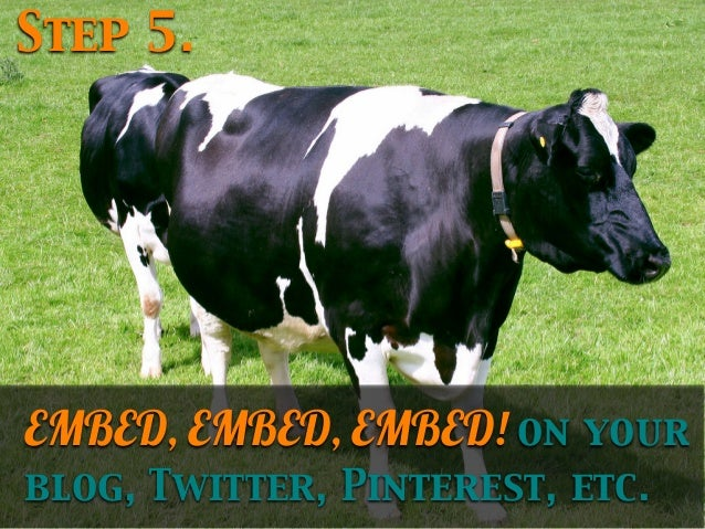 Step 5.  EMBED, EMBED, EMBED! on your blog, Twitter, Pinterest, etc.
