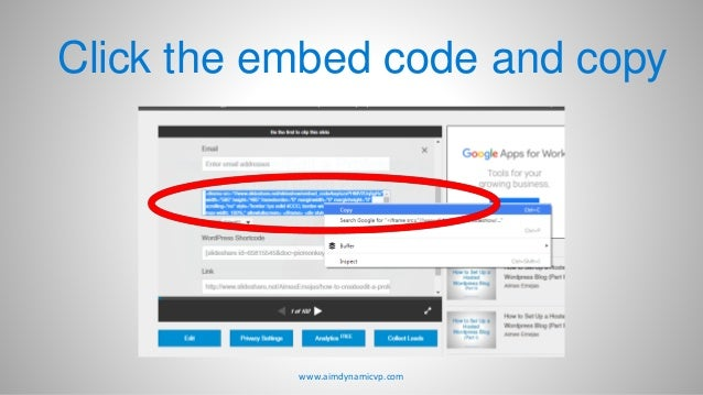 How to Upload Presentations in SlideShare and Embed in your