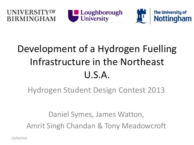 Development of a Hydrogen Fuelling Infrastructure in the Northeast U.S.A. Hydrogen Student Design Contest 2013 Daniel Syme...