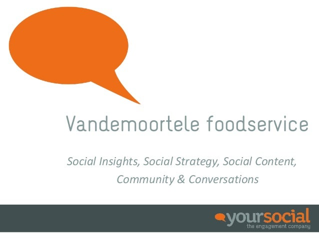 Vandemoortele foodserviceSocial Insights, Social Strategy, Social Content,           Community & Conversations