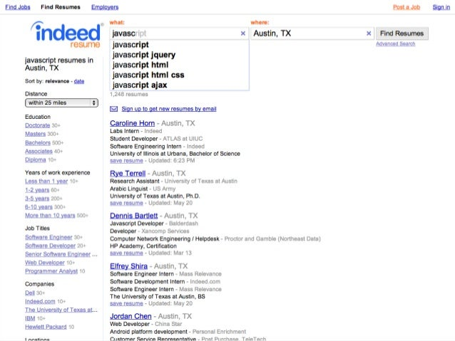 Indeed Search Resumes find your next hire with indeed resume indeed blog Indeedcomresumesqjava Ajax Resultsload Jshtml