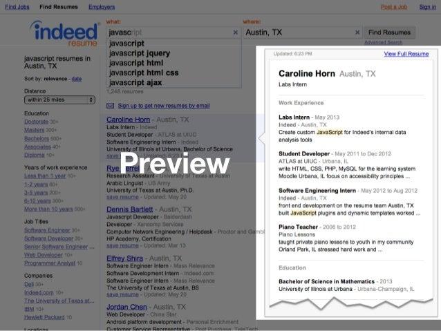 IndeedEng] Building Indeed Resume Search