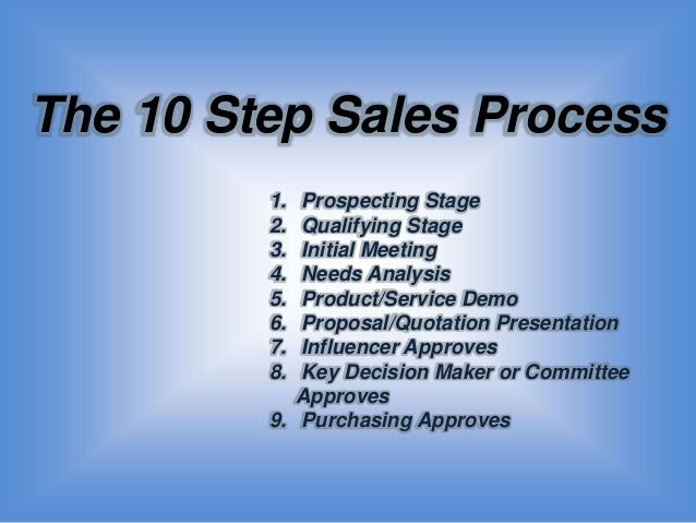 slide share version of sales as an art and science the 10 step sale