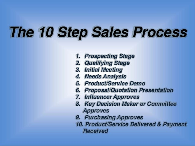 Slide share version of sales as an art and science the 10-step sale…