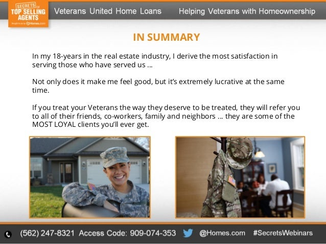 New Niche Market for Real Estate Agents  Helping Veterans Achieve Hom…