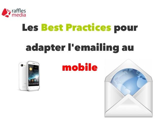 Les Best Practices pour adapter l'emailing au mobile