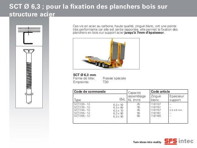 Gamme de vis SCT  : des vis pour la fixation des planchers de portes-engins Slide 2