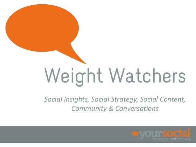 Weight WatchersSocial Insights, Social Strategy, Social Content,          Community & Conversations