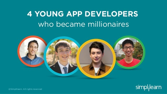 4 YOUNG APP DEVELOPERS who became millionaires @Simplilearn. All rights reserved
