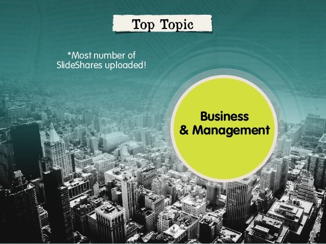 Top Topic *Most number of SlideShares uploaded!  Business & Management