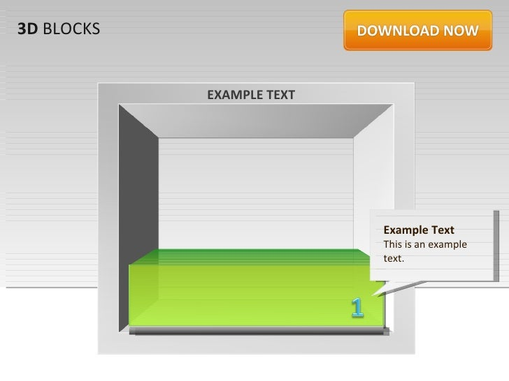 3D BLOCKS            EXAMPLE TEXT                           Example Text                           This is an example     ...