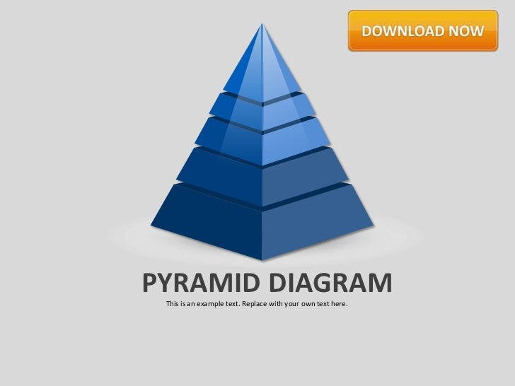 PYRAMID DIAGRAM This is an example text. Replace with your own text here.
