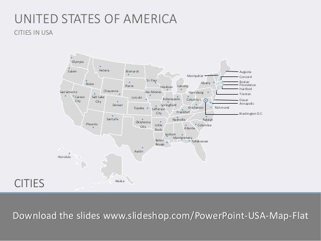 USA Map Flat - Us map flat