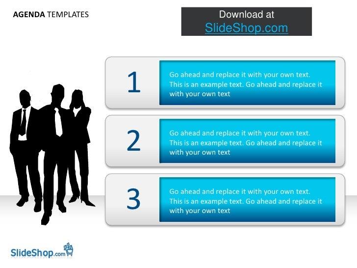 Slideshop Agenda Template