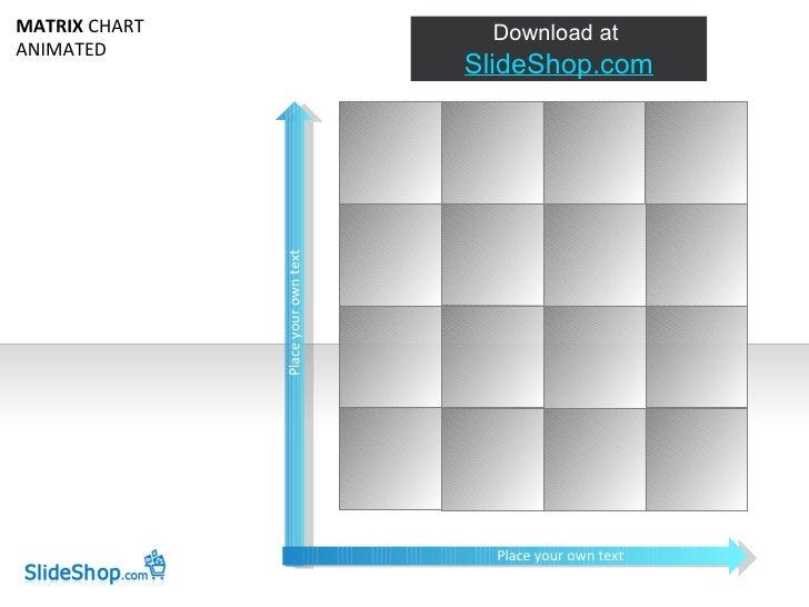 MATRIX CHART                           Download at ANIMATED                                      SlideShop.com            ...