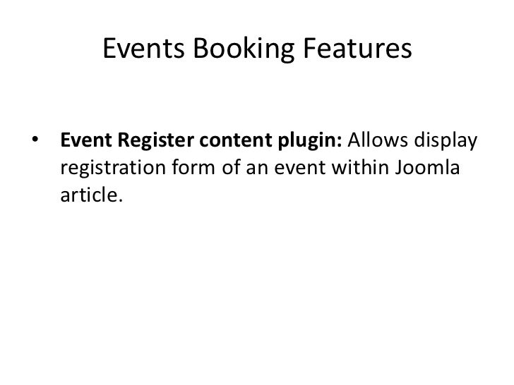 Event Booking Extension