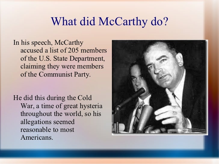 a comparison of mccarthyism and the crucible Mccarthyism and the crucible comparison, mccarthy trials and the crucible, similarities between mccarthyism and crucible, similarities between crucible and.